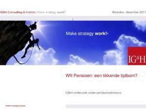 Make strategy work! Wft