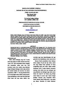 MAKNA DAN KOHESI LEKSIKAL BAHASA IKLAN DALAM KORAN MAINICHI SHINBUN EDISI 1-8 JANUARI 2012 Dian Kurnia Putri NRM