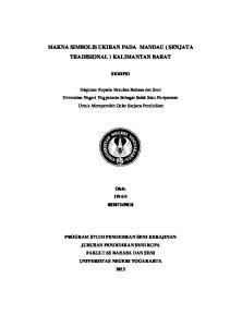 MAKNA SIMBOLIS UKIRAN PADA MANDAU ( SENJATA TRADISIONAL ) KALIMANTAN BARAT