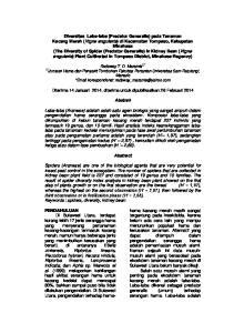 Manado * korespondensi: Diterima 14 Januari 2014, diterima untuk dipublikasikan 26 Februari 2014