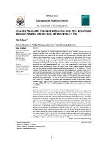 Management Analysis Journal