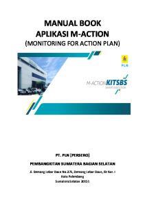 MANUAL BOOK APLIKASI M-ACTION (MONITORING FOR ACTION PLAN)