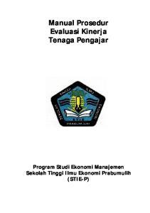 Manual Prosedur Evaluasi Kinerja Tenaga Pengajar