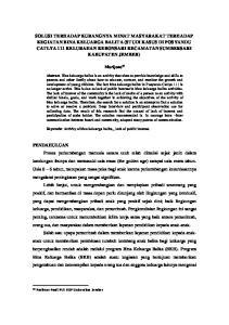 Marijono 16. Keywords: Activity of bina keluarga balita,, lack of public interest. Profesor Prodi PLS FKIP Universitas Jember
