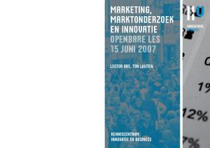 marketing, Marktonderzoek en Innovatie openbare les 15 juni 2007
