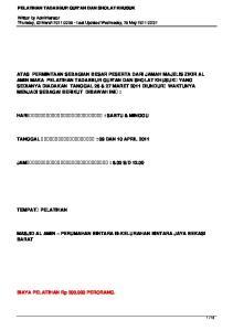 MASJID AL AMIN PERUMAHAN BINTARA III-KELURAHAN BINTARA JAYA BEKASI BARAT