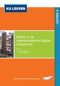 Master in de ingenieursweten schappen: bouwkunde