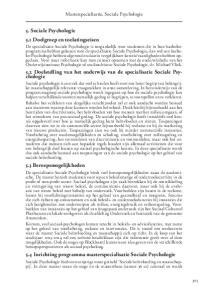 Masterspecialisatie, Sociale Psychologie