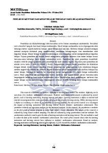 MATHEdunesa Jurnal Ilmiah Pendidikan Matematika Volume 3 No. 5 Tahun 2016 ISSN :