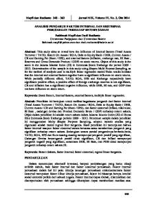 Mayfi dan Rudianto Jurnal MIX, Volume IV, No. 3, Okt 2014