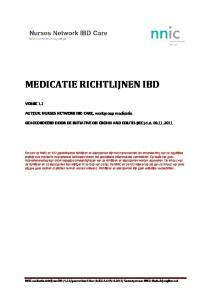 MEDICATIE RICHTLIJNEN IBD