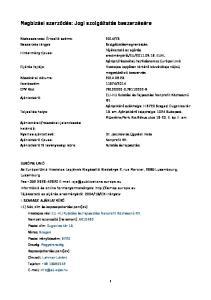 Megbízási szerződés: Jogi szolgáltatás beszerzésére