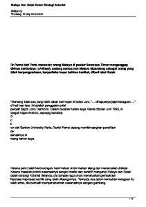 Melayu Dan Batak Dalam Strategi Kolonial. Written by Thursday, 22 July :51