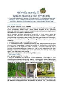 Mélykék mosoly Kalandozások a finn tóvidéken