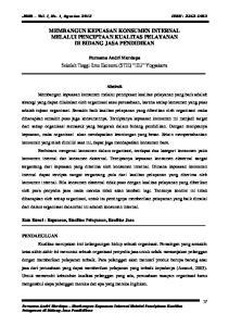 MEMBANGUN KEPUASAN KONSUMEN INTERNAL MELALUI PENCIPTAAN KUALITAS PELAYANAN DI BIDANG JASA PENDIDIKAN