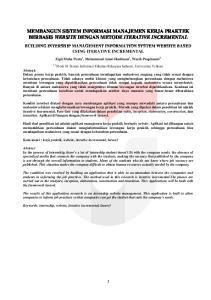 MEMBANGUN SISTEM INFORMASI MANAJEMEN KERJA PRAKTEK BERBASIS WEBSITE DENGAN METODE ITERATIVE INCREMENTAL