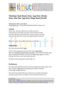 Membuat Akun Itunes Store, App Store, Ibooks Store, Dan Mac App Store Tanpa Kartu Kredit