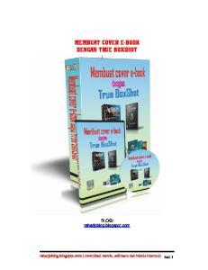 MEMBUAT COVER E-BOOK DENGAN TRUE BOXSHOT
