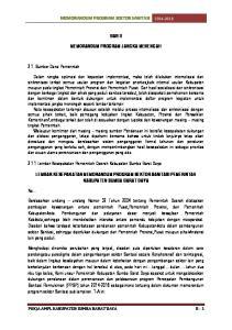 MEMORANDUM PROGRAM SEKTOR SANITASI BAB II MEMORANDUM PROGRAM JANGKA MENENGAH