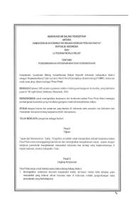 MEMORANDUM SALING PENGERTIAN ANTARA KEMENTERIAN KOORDINATOR BIDANG KESEJAHTERAAN RAKYAT REPUBLIK INDONESIA DAN LUTHERAN WORLD RELIEF