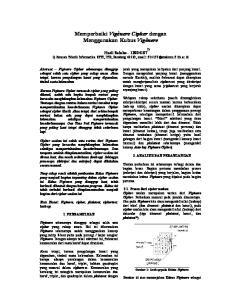 Memperbaiki Vigènere Cipher dengan Menggunakan Kubus Vigènere