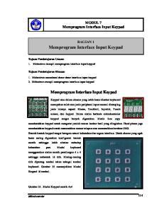 Memprogram Interface Input Keypad