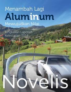 Menambah Lagi. Aluminum. Mewujudkan Nilai. Ringkasan Laporan Kelestarian 2014