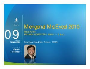 Mengenal Ms.Excel 2010