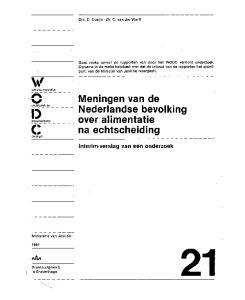 Meningen van de Nederlandse bevolking over alimentatie (; na echtscheiding centrum