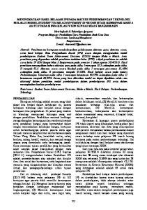 MENINGKATKAN HASIL BELAJAR IPS PADA MATERI PERKEMBANGAN TEKNOLOGI MELALUI MODEL STUDENT TEAMS ACHIEVEMENT DIVISIONS (STAD)