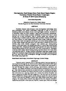 Meningkatkan Hasil Belajar Siswa Pada Materi Bagian-Bagian Tumbuhan Melalui Pemanfaatan Lingkungan di Kelas IV SDN Inpres Sritabaang