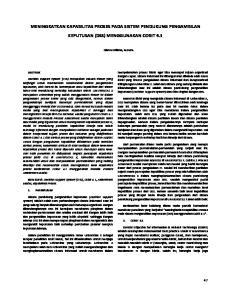 MENINGKATKAN KAPABILITAS PROSES PADA SISTEM PENDUKUNG PENGAMBILAN KEPUTUSAN (DSS) MENGGUNAKAN COBIT 4.1