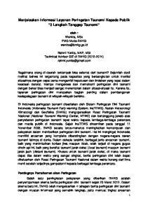 Menjelaskan Informasi Layanan Peringatan Tsunami Kepada Publik 3 Langkah Tanggap Tsunami