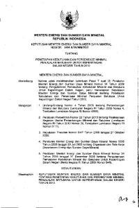 MENTERI ENERGI DAN SUMSER DAYA MINERAL REPUBLlK INDONESIA