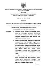 MENTERI NEGARA PEMBERDAYAAN PEREMPUAN DAN PERLINDUNGAN ANAK REPUBLIK INDONESIA