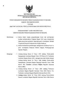 MENTERI NEGARA PENDAYAGUNAAN APARATUR NEGARA REPUBLIK INDONESIA
