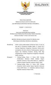 MENTERI PENDAYAGUNAAN APARATUR NEGARA DAN REFORMASI BIROKRASI REPUBLIK INDONESIA PERATURAN MENTERI PENDAYAGUNAAN APARATUR NEGARA NOMOR 3 TAHUN 2015