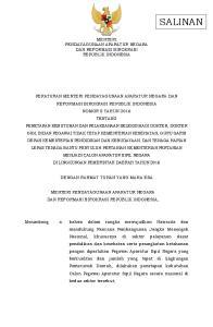 MENTERI PENDAYAGUNAAN APARATUR NEGARA DAN REFORMASI BIROKRASI REPUBLIK INDONESIA