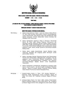 MENTERI SOSIAL REPUBLIK INDONESIA