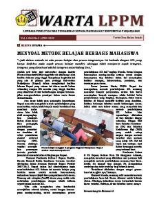 MENYOAL METODE BELAJAR BERBASIS MAHASISWA