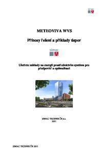 METEOVIVA WVS. Přínosy řešení a příklady úspor. Ušetřete náklady na energii prostřednictvím systému pro předpověď a optimalizaci