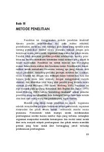 METODE PENELITIAN. Bab III