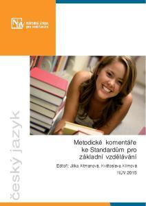 Metodické komentáře ke Standardům pro základní vzdělávání. český jazyk