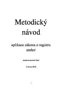 Metodický návod. aplikace zákona o registru smluv. (soukromoprávní část)