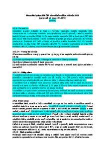 Metodický pokyn STK ČBA k Soutěžnímu řádu mládeže 2015 (úprava SŘ ml. ze dne ) (změny)