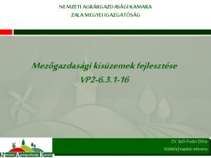 Mezőgazdasági kisüzemek fejlesztése VP