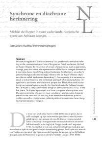 Michiel de Ruyter in twee vaderlands-historische epen van Adriaan Loosjes
