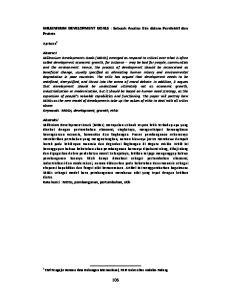 MILLENNIUM DEVELOPMENT GOALS : Sebuah Analisa Etis dalam Persfektif dan Praksis