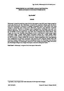 MISKONSEPSI DALAM PEMBELAJARAN MATEMATIKA SEKOLAH DASAR DI DATARAN TINGGI GAYO. Ega Gradini 1. Abstrak