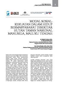 MODAL SOSIAL: KEKUATAN DALAM HIDUP BERMASYARAKAT DISEKITAR HUTAN TAMAN NASIONAL MANUSELA, MALUKU TENGAH